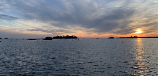 Thimble Islands sunset CT (click to enlarge)