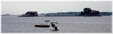 Thimble Islands on Long Island Sound