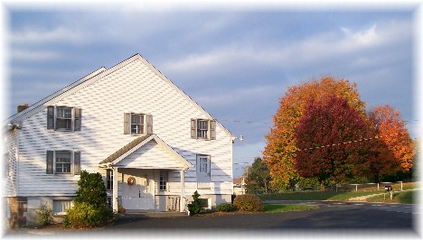 Rural church and autumn scene