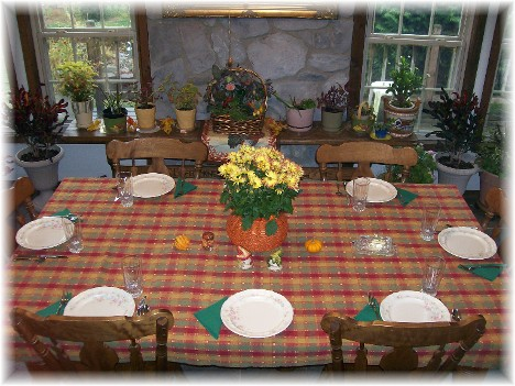 Thanksgiving table 2010