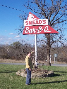 Mike Weber at Snead's BBQ in Belton Missouri