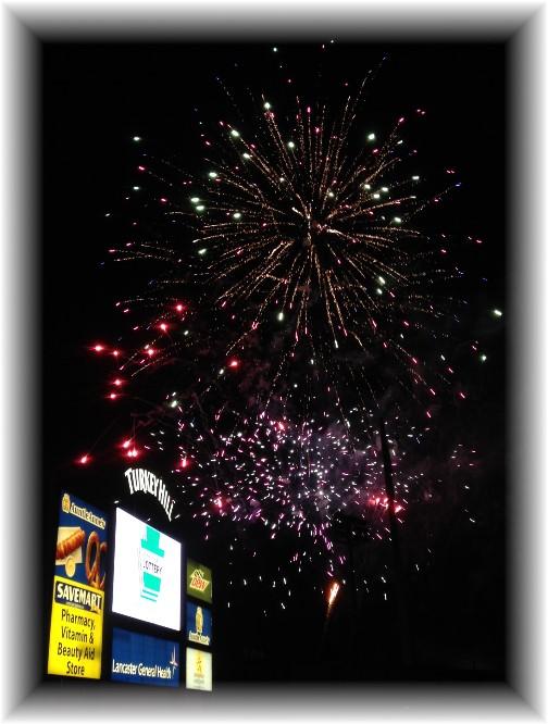 Lancaster Barnstormer Fireworks display 7/4/14