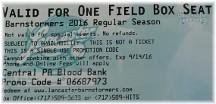 Lancaster Barnstormer ticket voucher