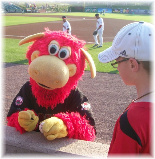 Cylo, the Lancaster Barnstormers team mascot