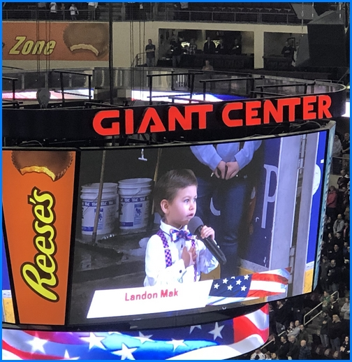 Hershey Bears hockey game anthem 3/13/19