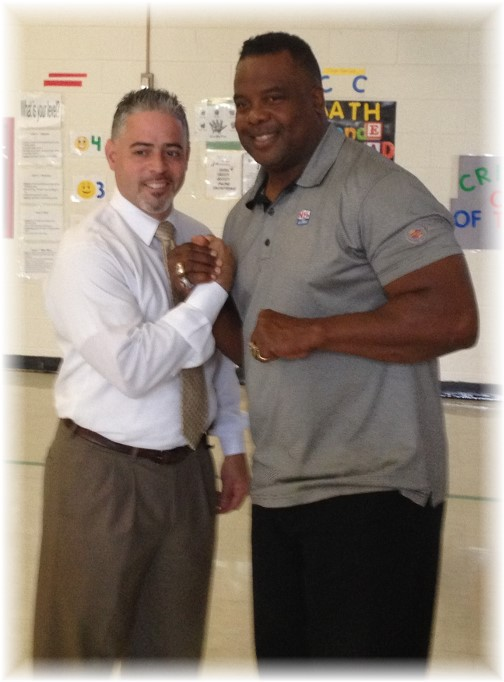 Lee Rouson with principal 9/24/14
