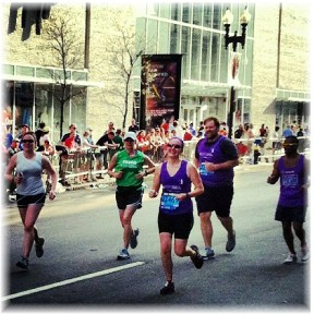 Nikki Higgins in Boston Marathon 2012