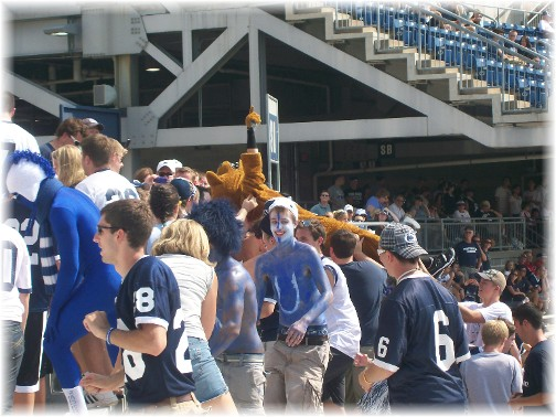 Nittany Lion mascot 9/3/11
