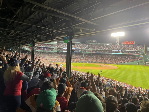Moment the Red Sox won!