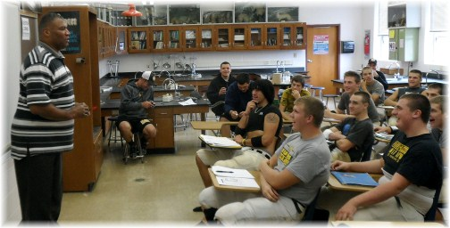 Mike Cobb with Solanco HS football team 10/23/12
