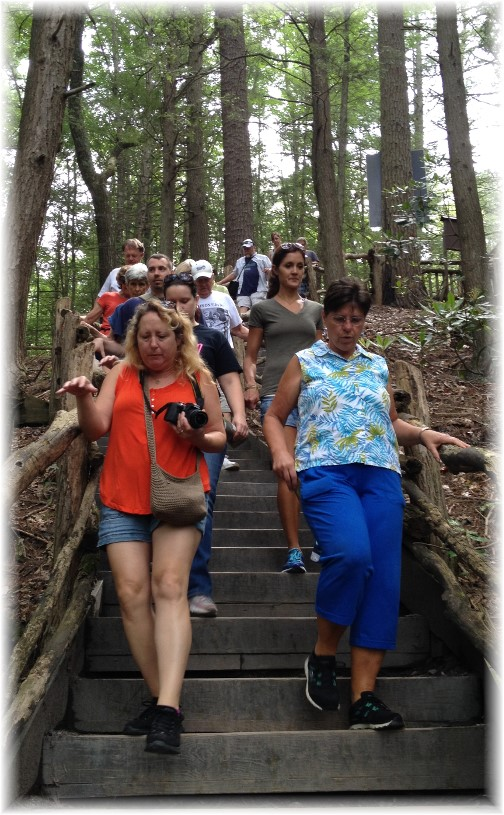 Steincross family members at Bushkill Falls 5/21/15