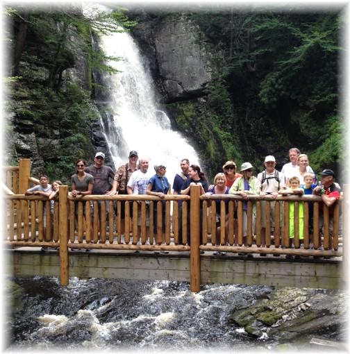 Steincross family members at Bushkill Falls 5/21/15