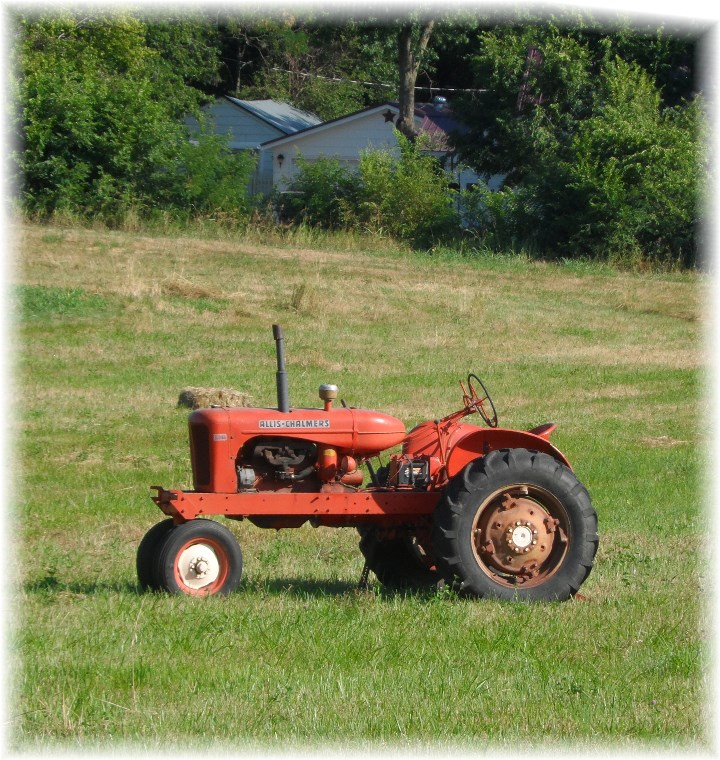 Tractor in Schell City Missouri 7/17/13