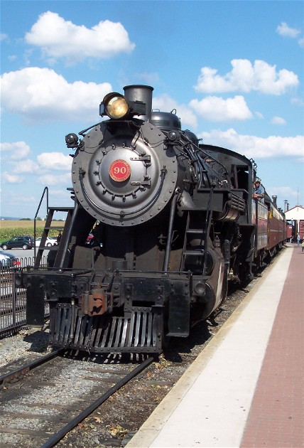 photo of Strasburg steam engine