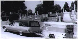 Hearse with U-haul