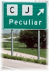 Peculiar road sign