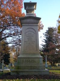 PT Barnum gravestone