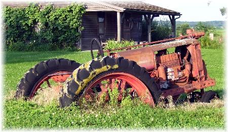 Sunken tractor