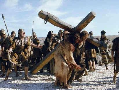 Simon of Cyrene carrying cross
