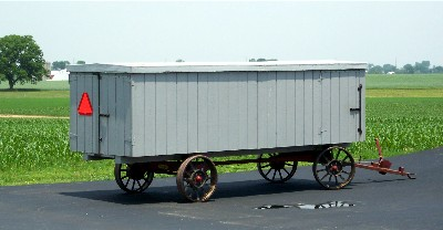 Amish bench wagon