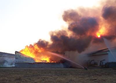 Chicken house fire