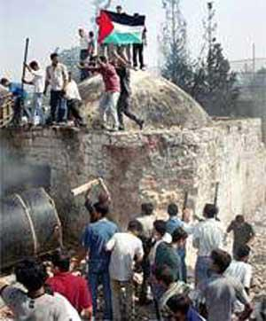 Desecration of Joseph's tomb