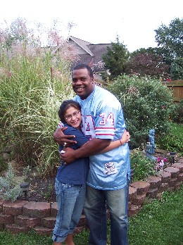 Lee Rouson, former NY Giant football player with Ester 2006