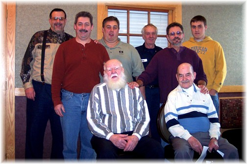 New Cumberland men's group at breakfast 2007