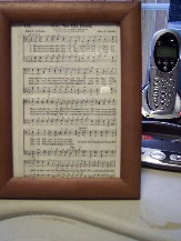 Photo of framed hymn