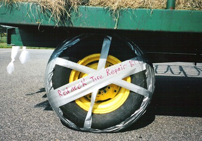 Duct tape tire repair kit