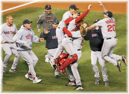 Red Sox victory celebration