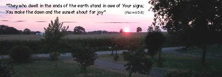 Sunset photo Psalm 65:8