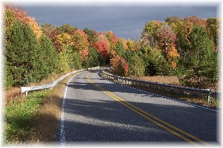 Photo of Quehanna Highway in northern PA