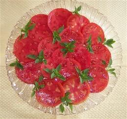 Fresh home-grown tomatoes