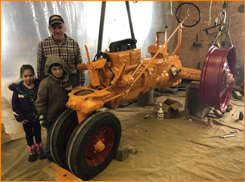 Galen restoring tractor 3/2/19
