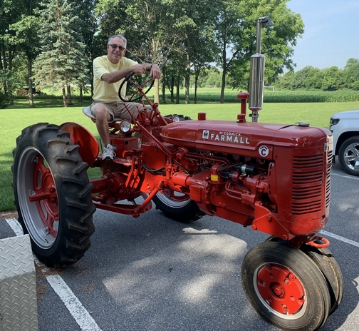 Larry on his 1953 Farmall tractor 6/29/19
