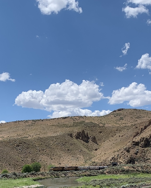 Train through tunnel in Nevada 7/24/19