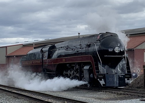 Norfolk and Southern engine 611 10/17/19 (Click to enlarge)
