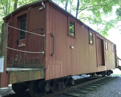 Train car at Little Buffalo State Park