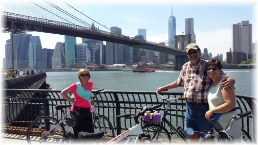 With Pam under Brooklyn Bridge 5/26/14