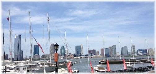 Jersey City, New Jersey across Hudson River 5/26/14