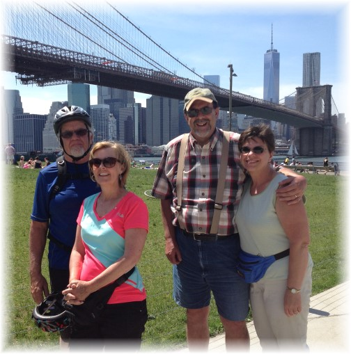 With Lee and Pam Smucker under Brooklyn Bridge 5/26/14)