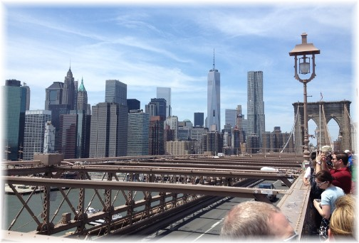Lower Manhattan from Brooklyn Bridge 5/26/14