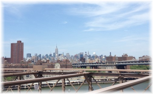 Midtown Manhattan from Brooklyn Bridge 5/26/14