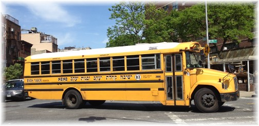 Orthodox Jewish bus in Brooklyn 5/26/14