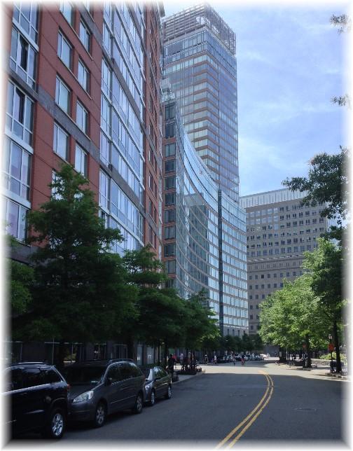 Curving buildings on Westside 5/26/14