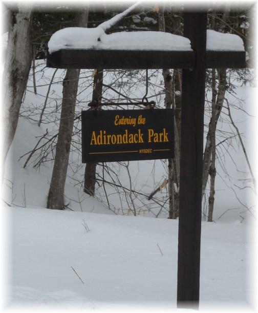 Adirondack Park entrance sign 3/22/13