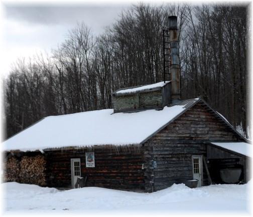 Sugar shanty in Adirondacks 3/24/13