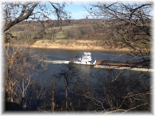 Barge on Cumberland River near Nashville 11/26/15