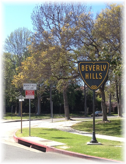 A pleasant view entering Beverly Hills